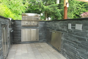 Outdoor Kitchen Installation Close Up